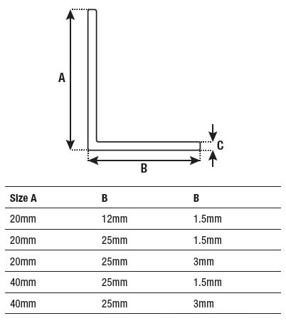 Dta Edge Trim Unperforated Aluminium L Shape Angle 4